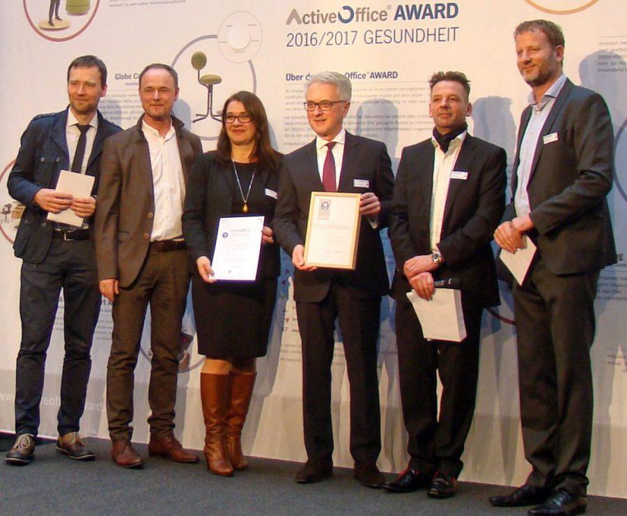 Pressefoto:Wilkhahn emfpangen ActiveOffice Award