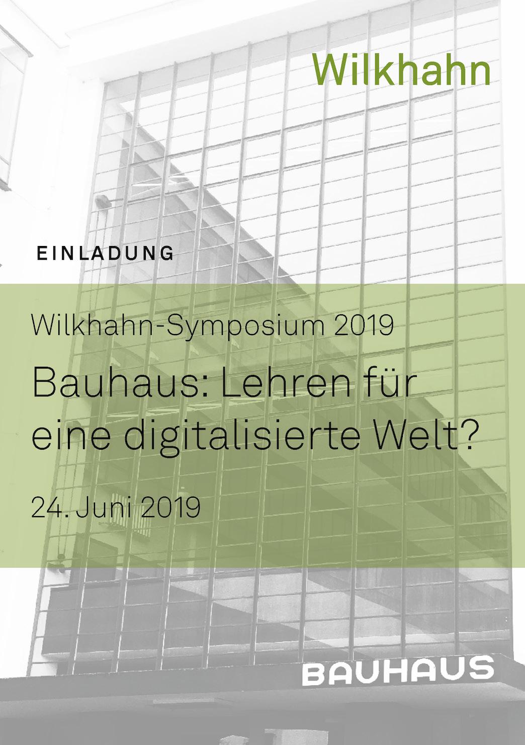 Wilkhahn Symposium 2019 Zur Bauhaus Lehre Und Den Schlüssen Daraus