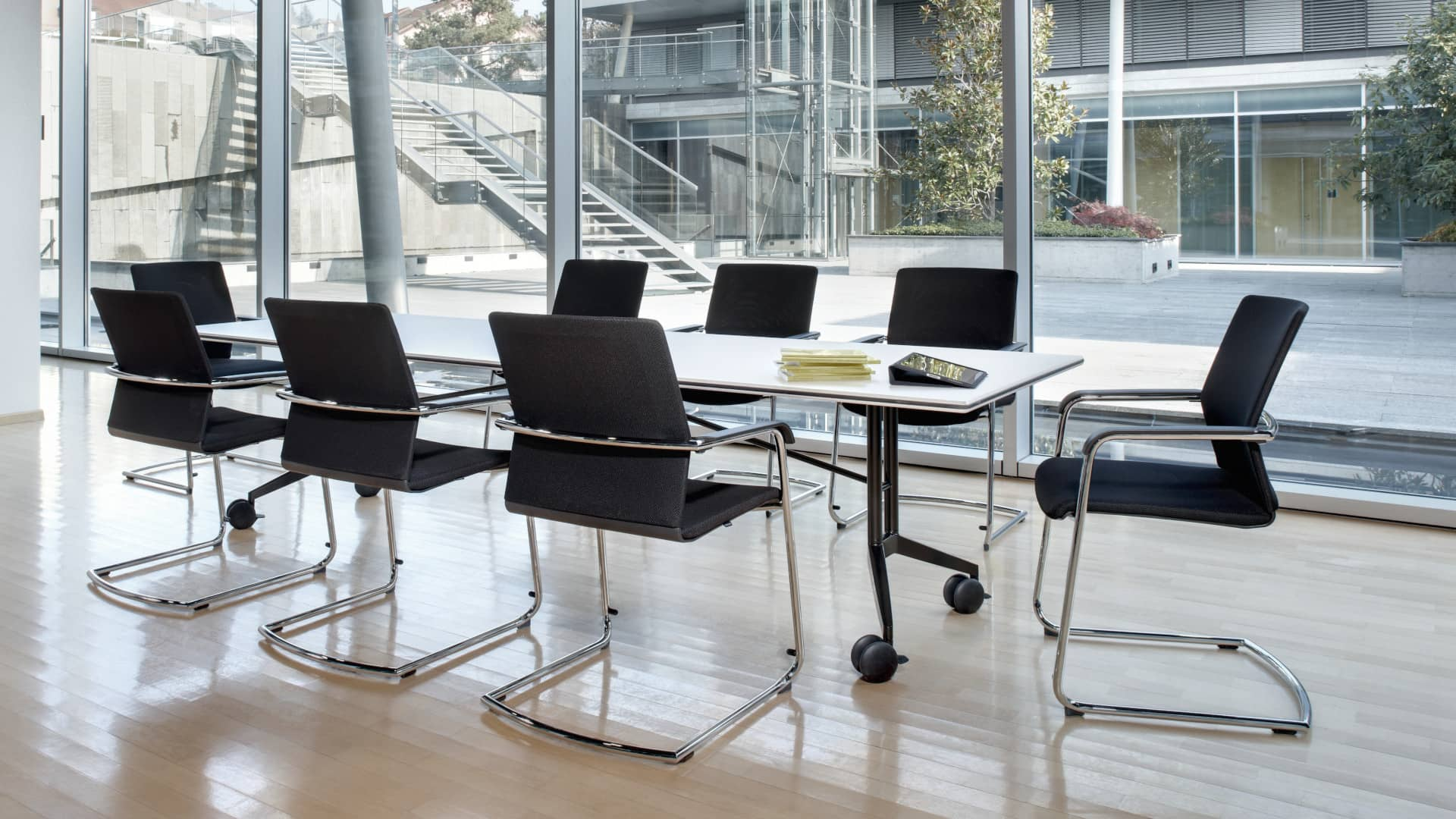 On Cantilever Chair Conference And Visitor Chair Wilkhahn