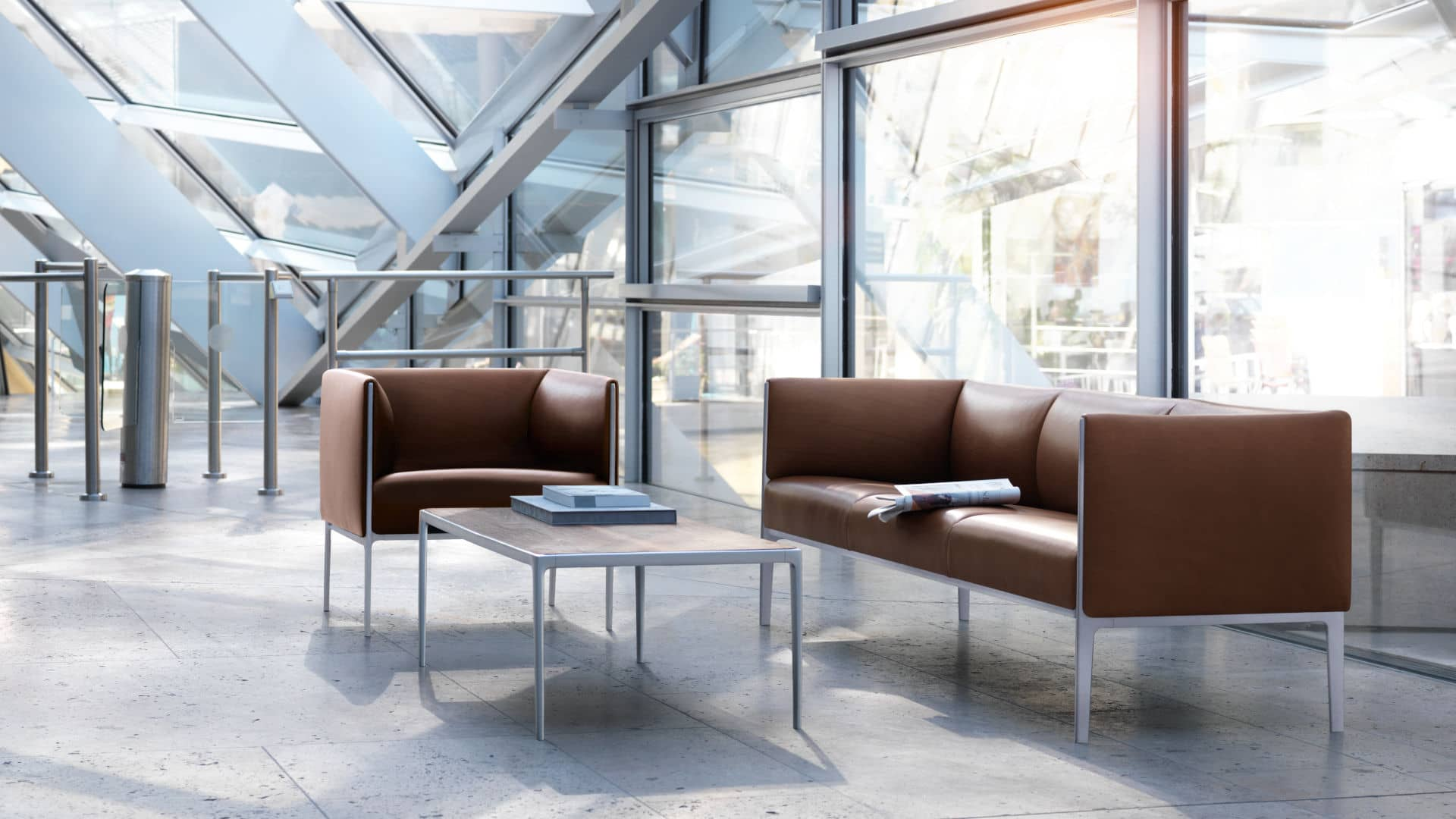 asienta upholstered benches with backrests side tables seating